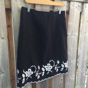 Larry Levine black linen blend skirt - size 10
